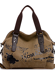 Women Bags All Seasons Canvas Shoulder Bag for Casual Sports Outdoor Office & Career Professioanl Use Blue Brown Khaki Pinky