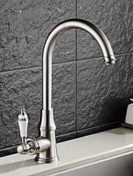 cheap -Contemporary Standard Spout Vessel Rotatable Ceramic Valve Single Handle One Hole Nickel Brushed, Kitchen faucet