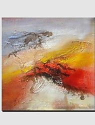 baratos -Pintados à mão Abstrato Panorâmico horizontal, Clássico Modern Tela de pintura Pintura a Óleo Decoração para casa 1 Painel