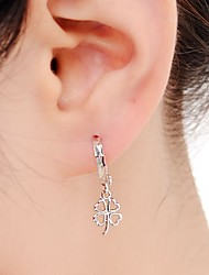 cheap -Sterling Silver Stud Earrings - Silver Four Leaf Clover Earrings For Daily / Casual
