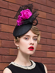 cheap -Flax Silk Net Fascinators Hats Headpiece Classical Feminine Style