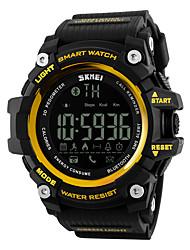 baratos -SKMEI Homens Mulheres Relógio Esportivo Relógio inteligente Relógio de Pulso Digital 30 m Impermeável Alarme Calendário Borracha Banda Digital Luxo Preta / Vermelho - Amarelo Vermelho Azul / LCD