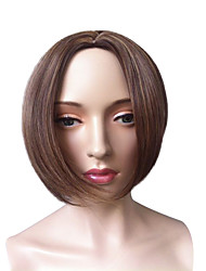 Short Bob Wig Blonde Side Part Synthetic Fiber Wig Straight Cosplay Costume Wigs