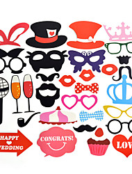 Photo Booth Props Party Decorations Supplies Mask Mustache For Fun Favors Photo Booth Wedding Decorations-31Piece/Set