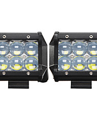 2x 30W LED Work Light Bar 4WD Offroad Spot Flood Fog ATV SUV Driving Lamp SPOT LED Off road Work Light Lamp 12V 24V car boat Truck Driving UTE