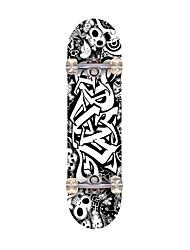 Стандартные скейтборды Офис клен ABEC-7-Черный Черепа