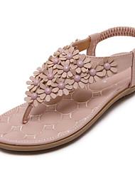 Feminino-Sandálias-Conforto Sapatos clube-Rasteiro--Couro Ecológico-Escritório & Trabalho Social Casual