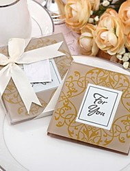 cheap -Indian Golden Photo Frame Coaster Favor 2pcs/box Beter Gifts®Wedding Souvenirs