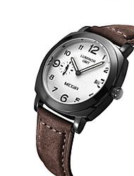 cheap -MEGIR Men's Fashion Watch / Wrist Watch Calendar / date / day / Noctilucent Leather Band Vintage Brown