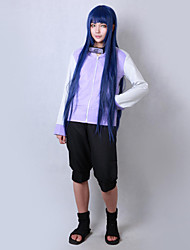 cheap -Inspired by Naruto Hinata Hyuga Anime Cosplay Costumes Cosplay Suits Solid Long Sleeves Coat Shorts For Male Female