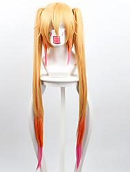 billige -Syntetiske parykker Lige Blond Syntetisk hår Blond Paryk Dame Lang Lågløs