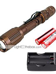 U'King LED Taschenlampen Taschenlampen Sets LED 2000 Lumen 5 Modus Cree XM-L T6 ja einstellbarer Fokus für Camping / Wandern /