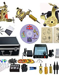 cheap -Complete Tattoo Kit 3  Machines DragonU With LCD Dual Digital Power Supply  liner & shader