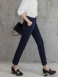 2017 donne pantaloni segno collant allungano pantaloni sottili vita sottile pantaloni piedi casuali pantaloni