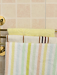 cheap -Golden Bathroom Kitchen Rotating Towel Holder 3 Movable Rod Towel Bar Belt Towel Rack Bathroom Accessories
