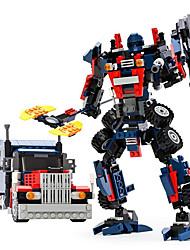 cheap -GUDI Robot Toy Cars Building Blocks 377 pcs Transformable Warrior Machine Robot Children's Girls' Boys' Gift