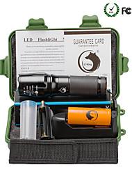Недорогие -U'King Светодиодные фонари Светодиодная лампа Cree XM-L T6 2000 lm 5 Режим освещения с батареей и зарядным устройством Масштабируемые, Фокусировка