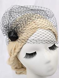 abordables -velos de colorete de velo de novia de una sola capa con accesorios de red para la boda
