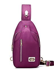 baratos -Mulheres Bolsas Fibra Sintética Sling sacos de ombro para Casual Todas as Estações Azul Preto Roxo