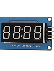 cheap -0.36 LED 4-Digit Display Module - Black  Blue