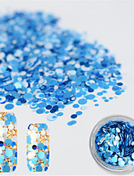 1 bottle Autocollant d'art de clou Paillettes & Poudre Maquillage cosmétique Nail Art Design