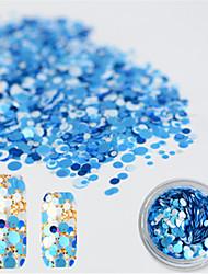 1 bottle Fashion DIY Nail Art Glitter Mini Round Paillette Colorful Color Design For Polish Beauty P38