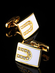 cheap -New Luxury Shirt Cufflinks for Mens Brand Cuff Buttons French Cuff links Gold Gemelos Men's Cuffs Wedding Jewelry