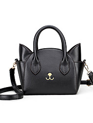 Women Bags All Seasons PU Shoulder Bag with for Wedding Event/Party Casual Formal Black Pale Blue Light Grey