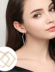 cheap -Women's Hoop Earrings - Basic / Statement / Simple Style Gold / Silver Square / Circle / Geometric Earrings For Party / Daily / Casual