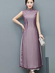 audrey réel été shot nouvelle robe cheongsam améliorée femmes de style chinois&# 39; mince mince de robe jupe littéraire