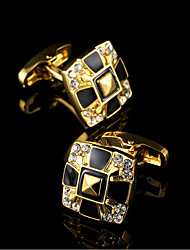 cheap -Geometric Golden Cufflinks Copper Classic / Gift Boxes & Bags / Fashion Men's Costume Jewelry For Party / Business / Ceremony / Wedding