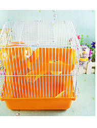 2017new hot high quality plastic color castle two-story buildings mushroom house hamster cage