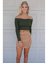 2016 Amazon AliExpress thread new word shoulder short knit shirt
