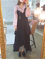 identificar 17 centavos sobre a primavera eo verão famosos suspensórios elegantes babados divisão saia do vestido balanço de grandes