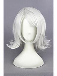 Недорогие -Парики из искусственных волос Прямой Без шапочки-основы Жен. Серый Карнавальный парик Парик для Хэллоуина Парики для косплей Короткие