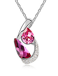 Women's Pendant Necklaces Crystal Chrome Unique Design Fashion Personalized Euramerican Simple StyleYellow Rose Red Red Light Blue Light