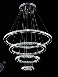 Dimmable LED Indoor Crystal Ceiling Chandeliers Pendant Lights Lighting Hanging Lamp Fixtures with Remote Control