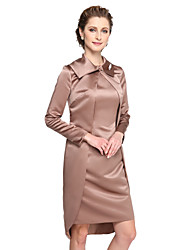 cheap -Satin Wedding Party Evening Women's Wrap With Button Coats / Jackets