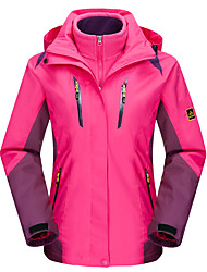 Women's 3-in-1 Jackets Waterproof Thermal / Warm Windproof Fleece Lining Dust Proof Breathable Double Sliders 3-in-1 Jacket Winter Jacket