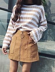 segno Corea retrò chic autunno e in inverno stivali pantaloni slim era vita allampanato piedino largo casuali culottes femminili