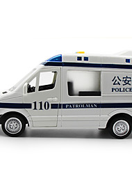 cheap -Toys Police car Toys Large Size Pull Back Vehicles Music & Light Car Plastic Metal 1 Pieces Children's Gift