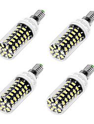 cheap -3W E12 E26 E27 LED Corn Lights T 64 leds SMD 5733 Cold White 200-250lm 6000K AC 110-130V