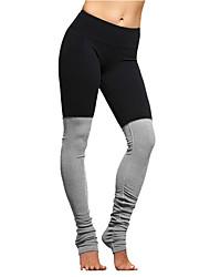 Per donna Pantaloni da corsa Traspirante Pantaloni per Yoga Esercizi di fitness Corsa Cotone Taglia piccola Nero Fucsia Blu S M L XL