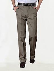Мужчины среднего возраста&# 39; s вскользь кальсоны тонкая часть весна большие ярды прямые брюки талии свободные длинные брюки папа