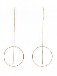 cheap -Women's Others Hoop Earrings / Dangle Earrings - Personalized / Fashion Gold / Silvery Circle Earrings For Daily / Casual