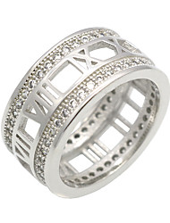 cheap -Men's Women's Ring AAA Cubic Zirconia Personalized Luxury Geometric Circular Vintage Circle Euramerican Hip-Hop Fashion Double-layer Rock