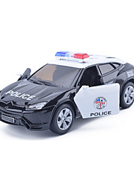 Die-Cast Vehicles Pull Back Vehicles Toy Cars Military Vehicle Race Car Police car Toys Simulation Car Metal Alloy Metal Pieces Unisex