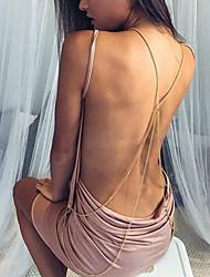Attillato Fodero Vestito Da donna-Vacanze Per uscire Casual Sensuale Moda città Sofisticato Tinta unita Con bretelline Sopra il ginocchio