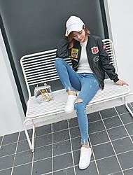 2016 Korean version of College Wind Harajuku BF Japanese embroidery printing personalized labeling loose baseball uniform jacket female