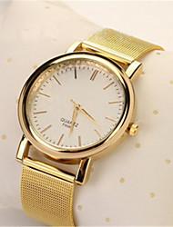 Недорогие -Жен. Модные часы электронные часы Кварцевый Цифровой сплав Группа Повседневная Золотистый
